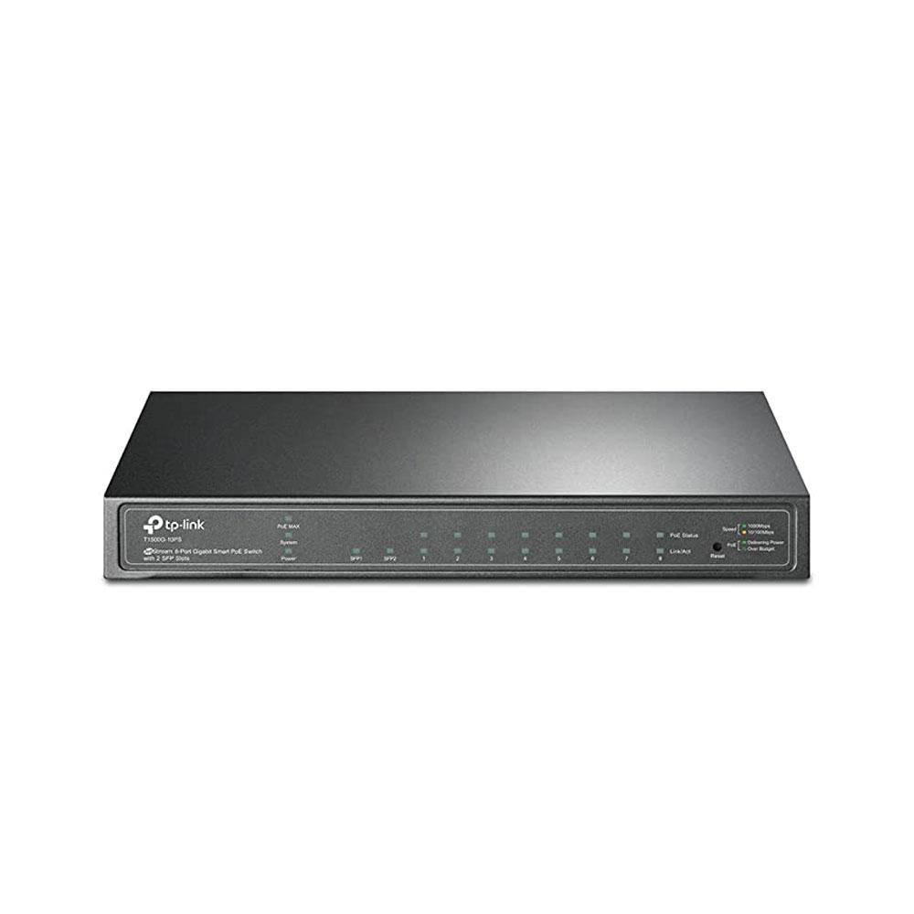 سوییچ 8 پورت تی پی لینک مدل TP-LINK T1500G-10PS (TL-SG2210P) 8 Port Gigabit Poe Switch