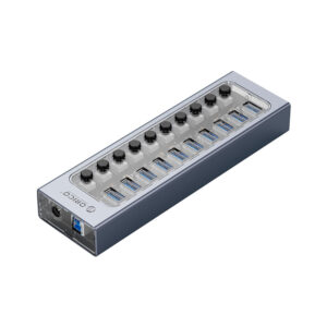 هاب 10 پورت اوریکو مدل ORICO AT2U3-10AB 10Port Hub With Individual Switches
