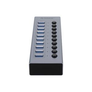 هاب 10 پورت اوریکو مدل ORICO BT2U3-10AB 10Port Hub With Individual Switches